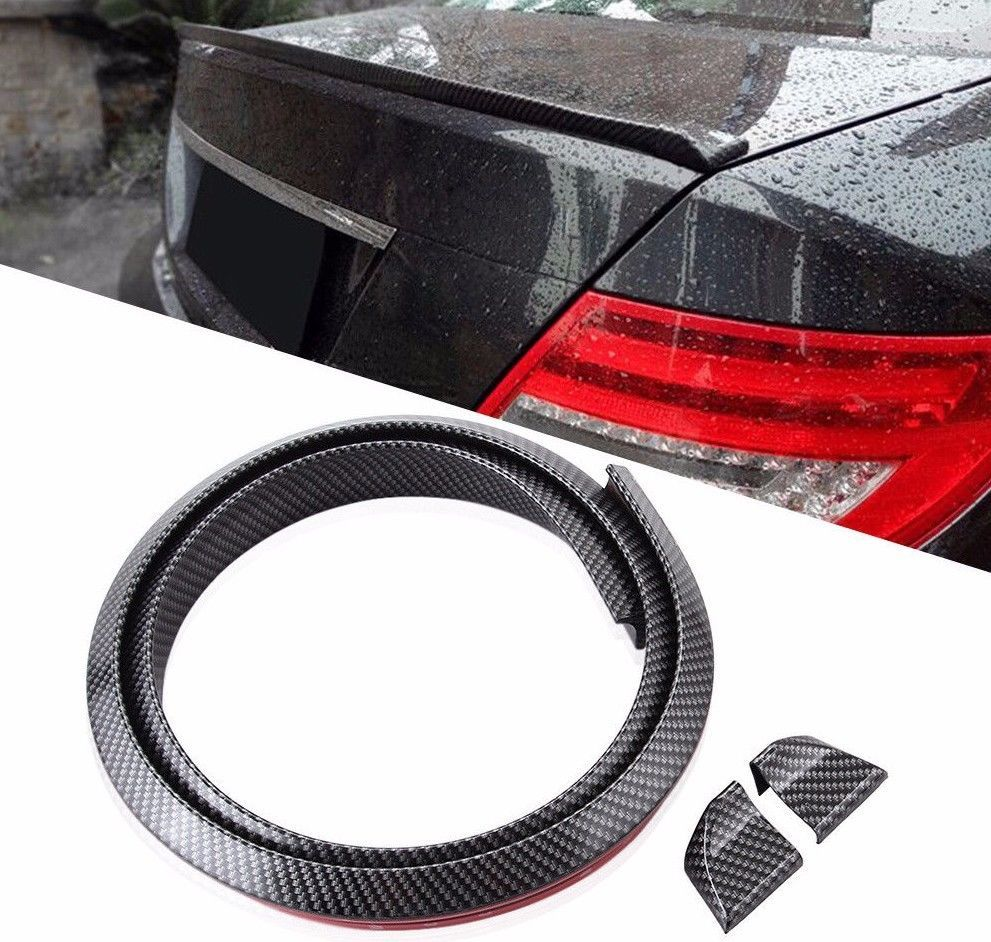Carbon Fiber Rubber Ducktail Style Universal Boot Spoiler